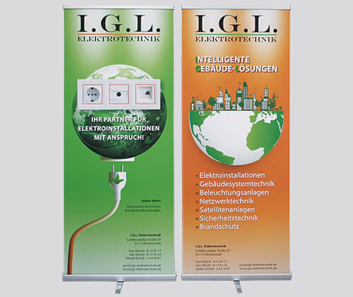 IGL Elektrotechnik Roll-Up's